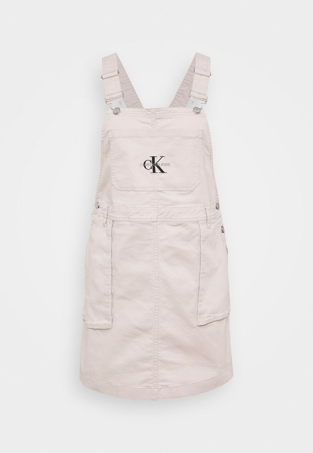 UTILITY DUNGAREE DRESS - Spijkerjurk - chateau grey