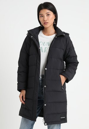 LIGHT WEIGHT LONG PUFFER - Dunkåpe / -frakk - black