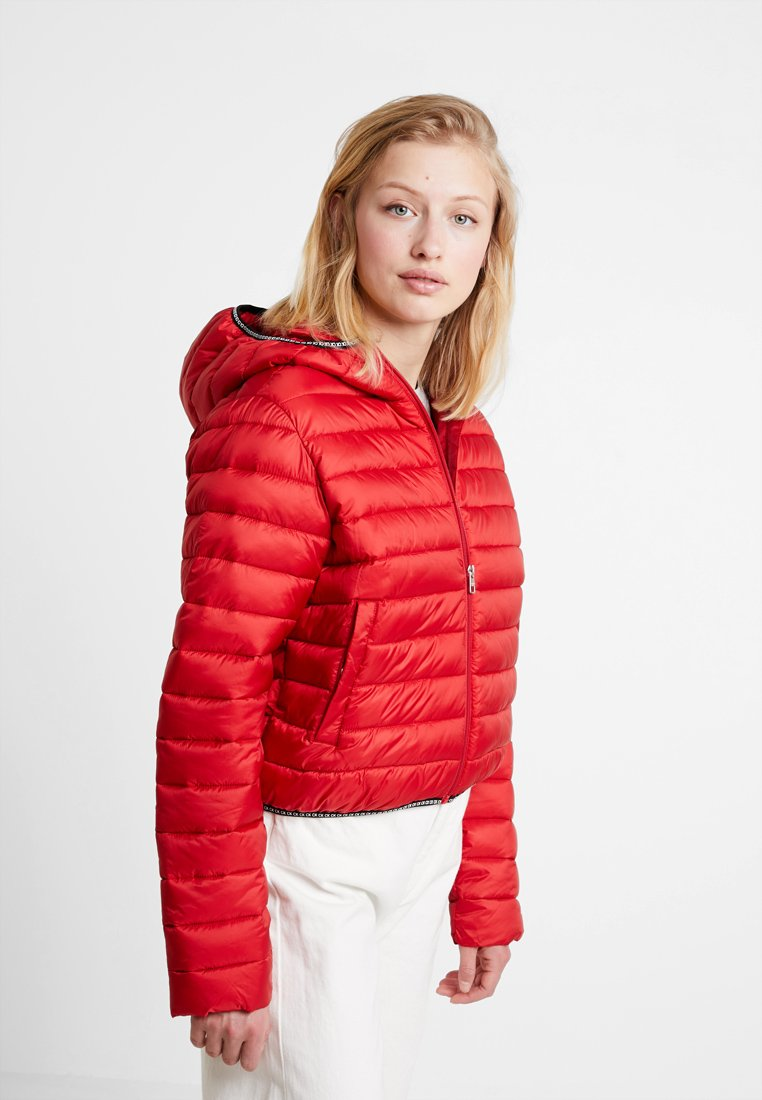 Calvin Klein Jeans - PADDED PUFFER WITH LOGO BINDING - Light jacket - barbados cherry
