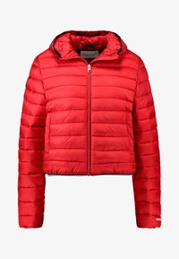 Calvin Klein Jeans - PADDED PUFFER WITH LOGO BINDING - Light jacket - barbados cherry - 4