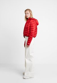 Calvin Klein Jeans - PADDED PUFFER WITH LOGO BINDING - Light jacket - barbados cherry - 1