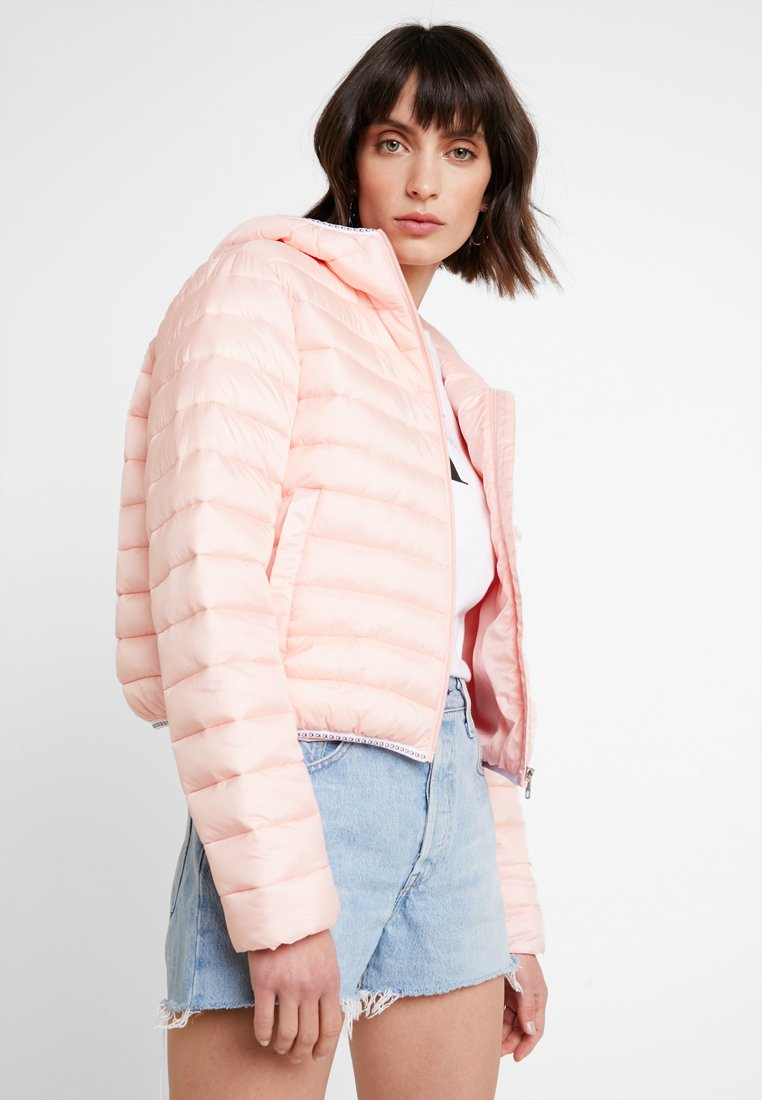 Calvin Klein Jeans - PADDED PUFFER WITH LOGO BINDING - Lehká bunda - blossom