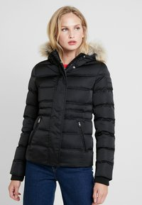 Calvin Klein Jeans - FITTED PUFFER - Dunjakke - black - 0