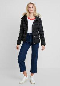 Calvin Klein Jeans - FITTED PUFFER - Dunjakke - black - 1