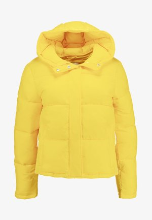 MONOGRAM TAPE PUFFER - Veste d'hiver - lemon chrome