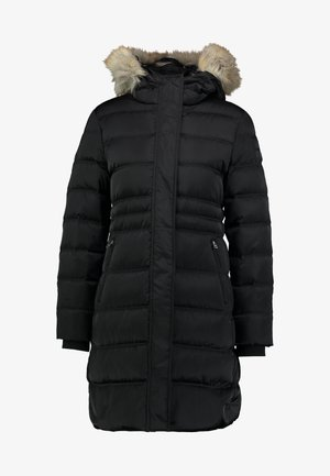 LONG PUFFER - Dunkåpe / -frakk - black
