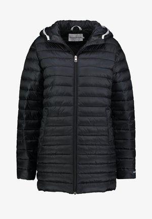 LOGO BINDING PADDED LONG PUFFER - Zimní kabát - black