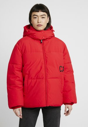 OVERSIZED LOGO PUFFER - Veste d'hiver - racing red