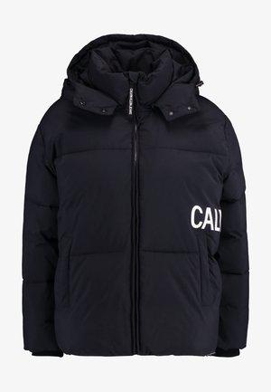 OVERSIZED LOGO PUFFER - Winter jacket - ck black