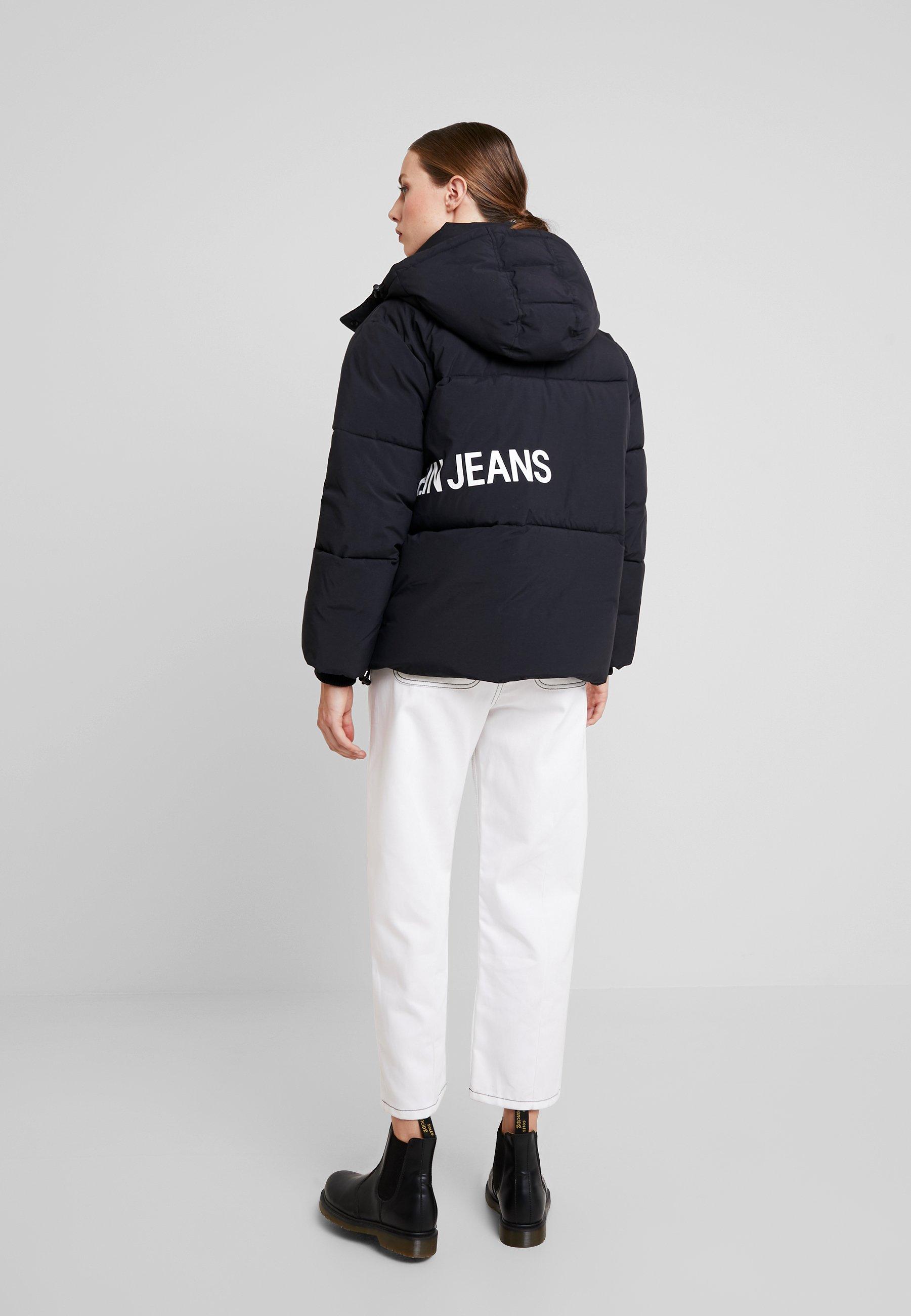 Calvin Klein Jeans OVERSIZED LOGO PUFFER - Kurtka zimowa - ck black