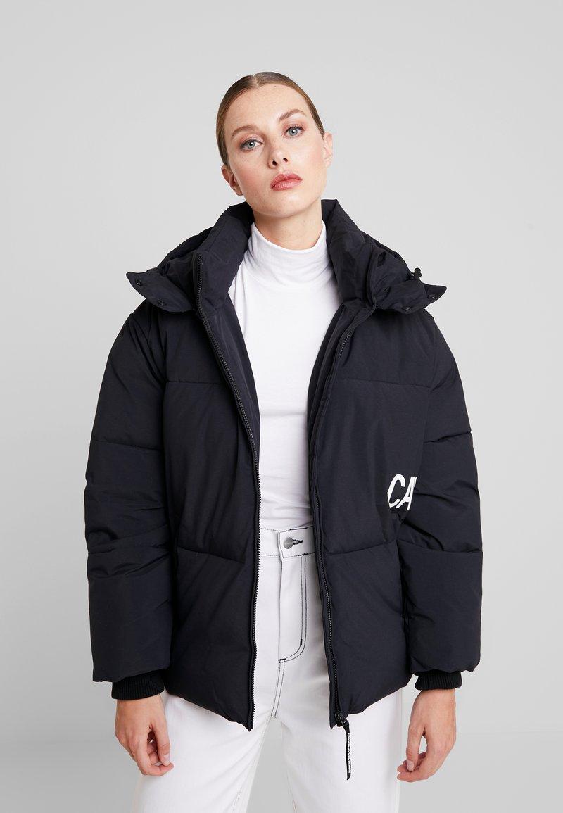 Calvin Klein Jeans - OVERSIZED LOGO PUFFER - Winter jacket - ck black