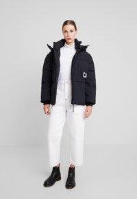 Calvin Klein Jeans - OVERSIZED LOGO PUFFER - Winter jacket - ck black - 1