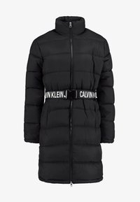 Calvin Klein Jeans - LONG PUFFER WITH WAIST BELT - Abrigo de invierno - black - 4