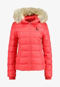 Calvin Klein Jeans - SHORT FITTED PUFFER - Lett jakke - racing red - 5