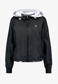 Calvin Klein Jeans - POP COLOUR UNPADDED WINDBREAKER - Windbreaker - black/bright white - 4