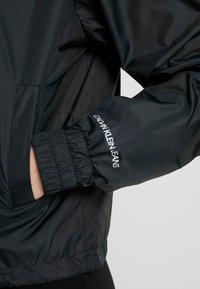 Calvin Klein Jeans - POP COLOUR UNPADDED WINDBREAKER - Windbreaker - black/bright white - 5
