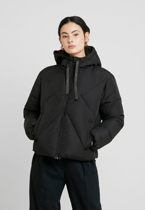 QUILTED PUFFER JACKET - Chaqueta de invierno - black