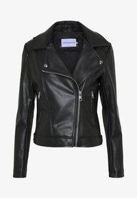 Calvin Klein Jeans - HOODED JACKET - Veste en similicuir - black - 5