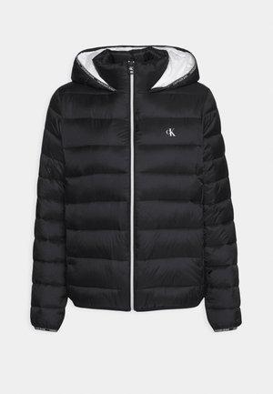 LOGO BINDING PUFFER - Veste d'hiver - black