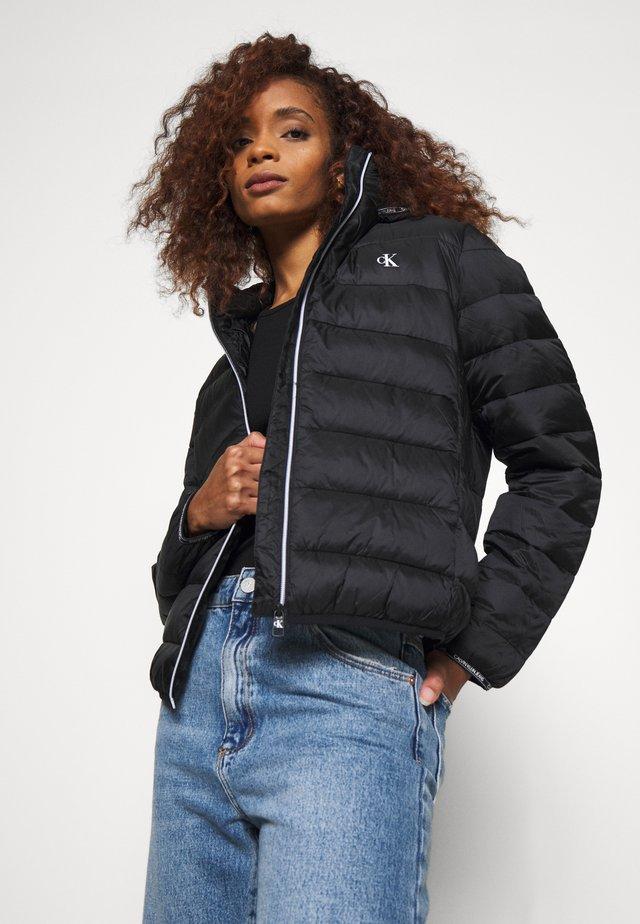 LOGO BINDING PUFFER - Winter jacket - black