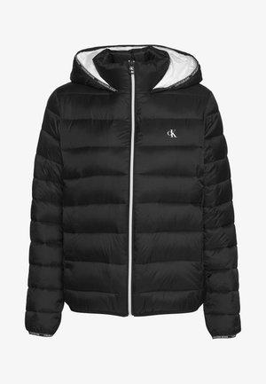 LOGO BINDING PUFFER - Zimní bunda - black