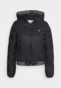 Calvin Klein Jeans - LOGO HOODED PADDED JACKET - Light jacket - black - 3