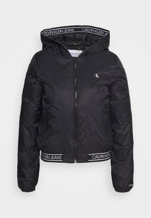 LOGO HOODED PADDED JACKET - Lehká bunda - black
