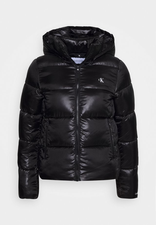 SHINY PUFFER - Winter jacket - black