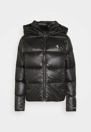 SHINY PUFFER - Down jacket - black