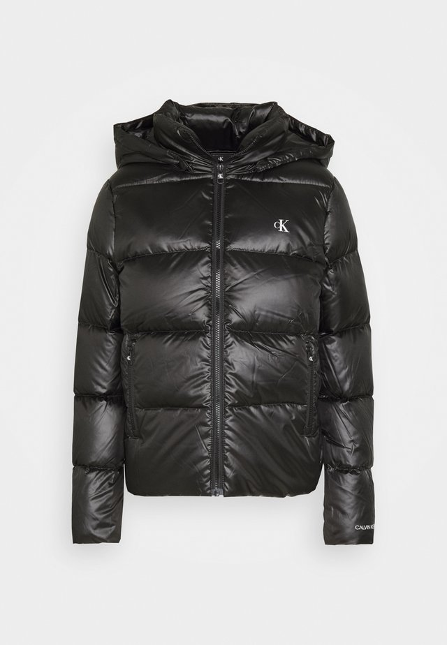 SHINY PUFFER - Down jacket - black