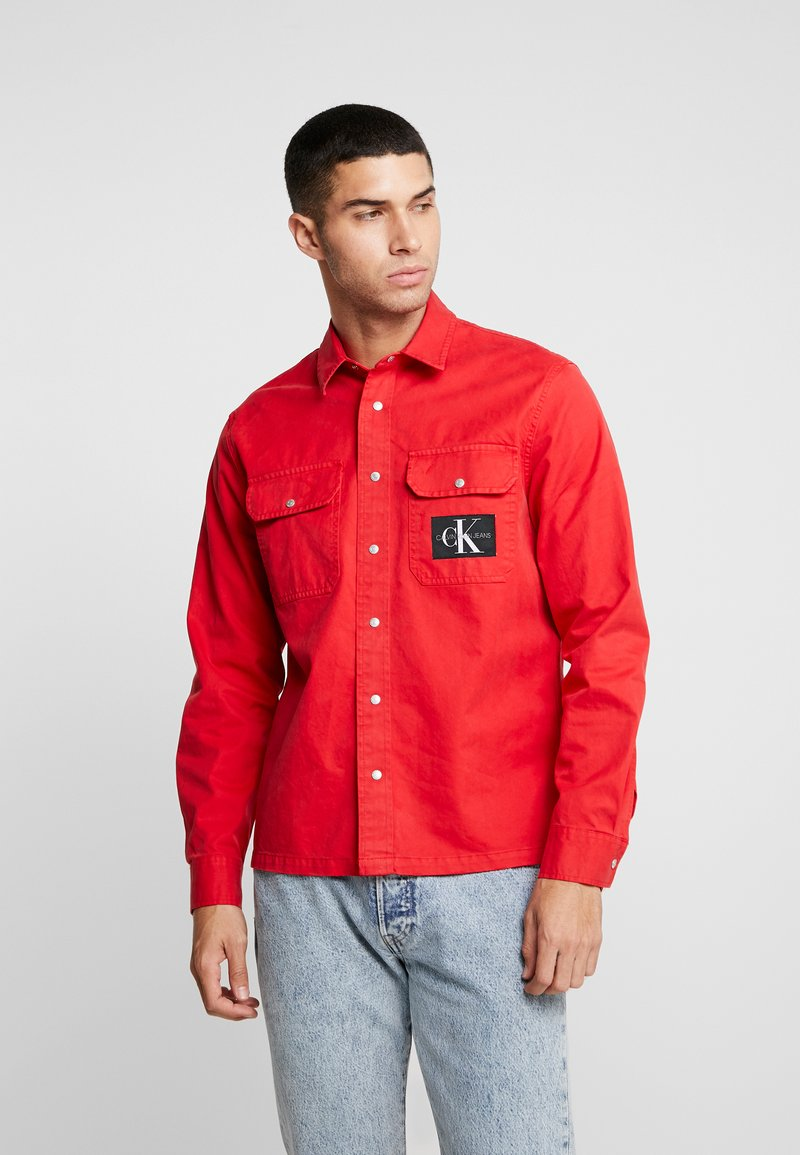 Calvin Klein Jeans - ARCHIVE ICONIC UTILITY SHIRT - Shirt - red