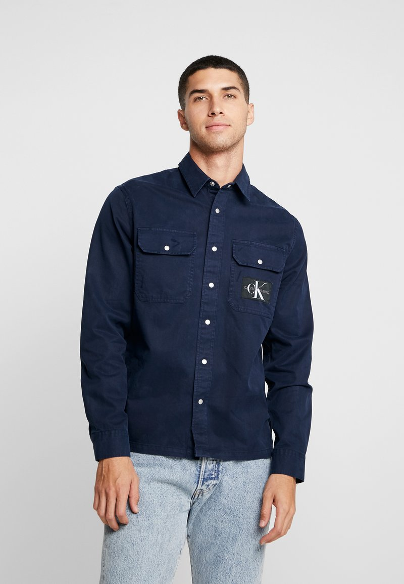 Calvin Klein Jeans - ARCHIVE ICONIC UTILITY SHIRT - Shirt - blue