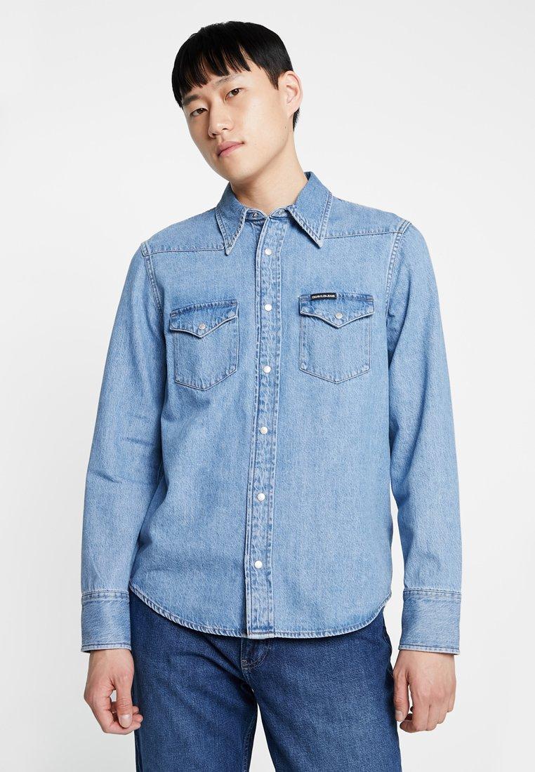 Calvin Klein Jeans - FOUNDATION WESTERN  - Camisa - denim