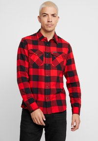 Calvin Klein Jeans - WESTERNCHECK SHIRT REGULAR FIT - Košile - racing red/black - 0