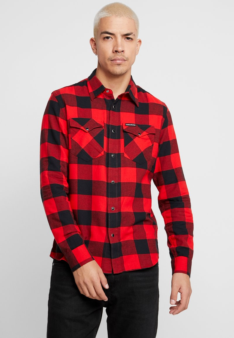 Calvin Klein Jeans - WESTERNCHECK SHIRT REGULAR FIT - Košile - racing red/black