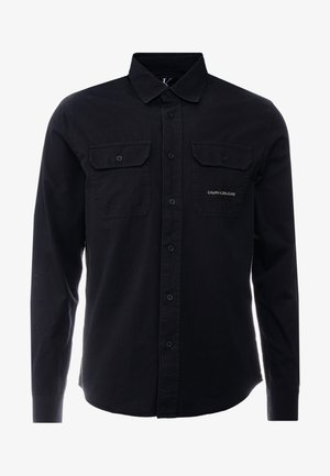 UTILITY MONOGRAM EMBRO REGULAR FIT - Skjorta - black