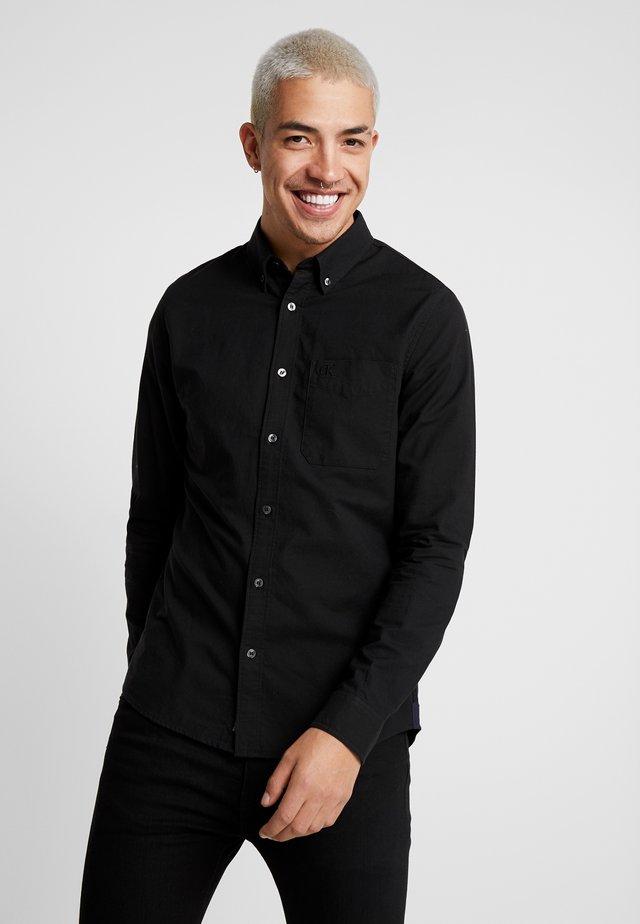 OXFORD SOLID SLIM NON STRETCH - Overhemd - black