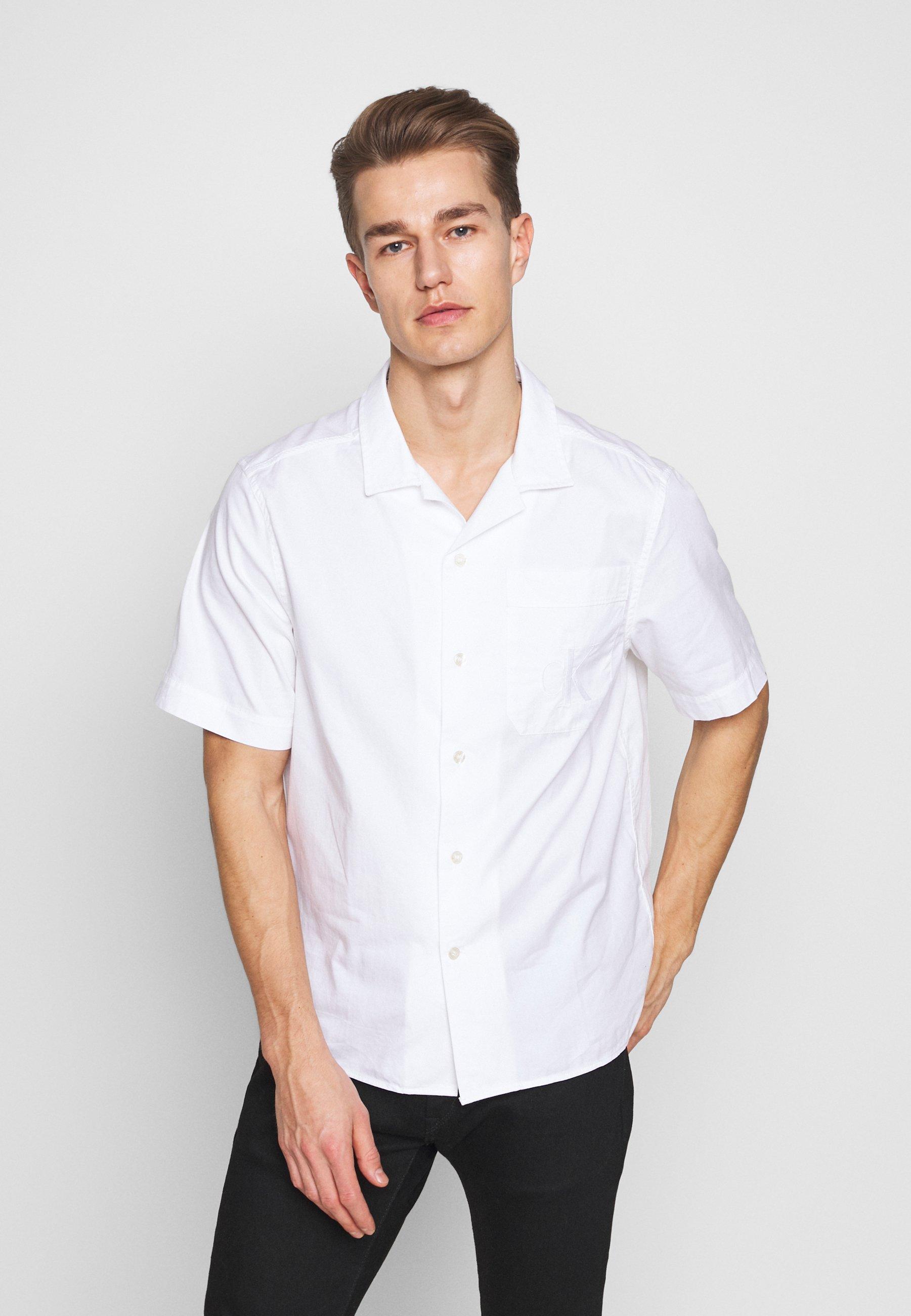 Calvin Klein Jeans RELAXED - Koszula - bright white