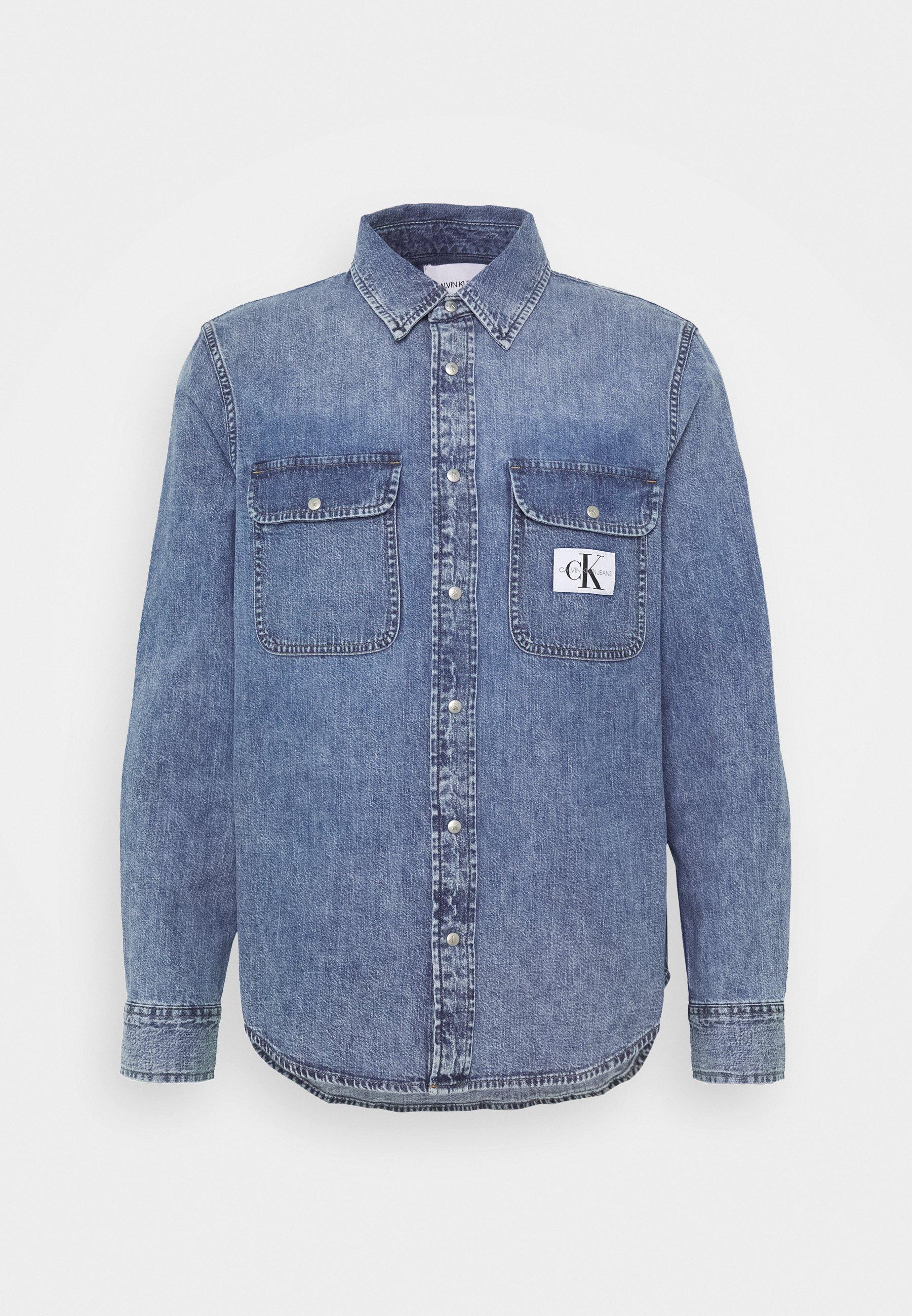 Calvin Klein Jeans ARCHIVE REGULAR - Koszula - mid blue