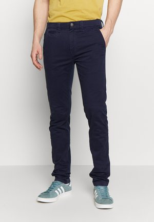 SKINNY WASHED STRETCH - Pantalon classique - night sky