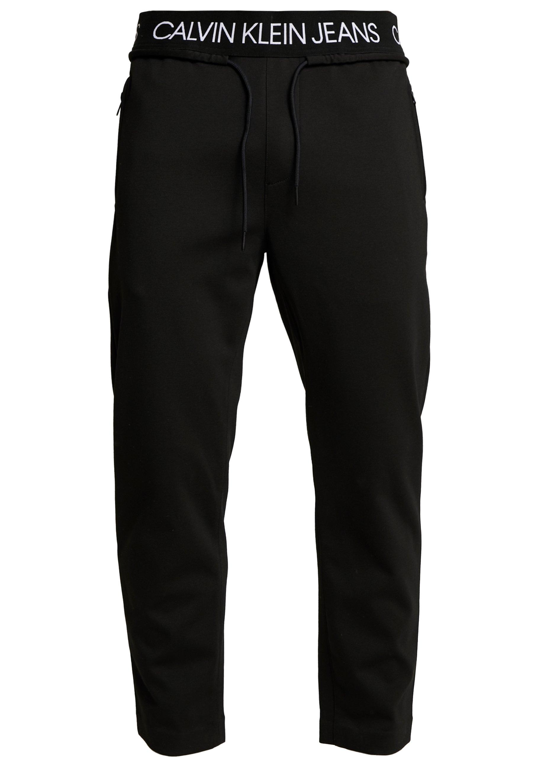 Calvin Klein Jeans Exposed Waistband Milano Pant - Pantalon De Survêtement Black jJuaIFO