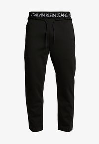 Calvin Klein Jeans - EXPOSED WAISTBAND MILANO PANT - Pantaloni sportivi - black - 3