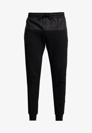 MIXED MEDIA JOGGING PANT - Spodnie treningowe - black