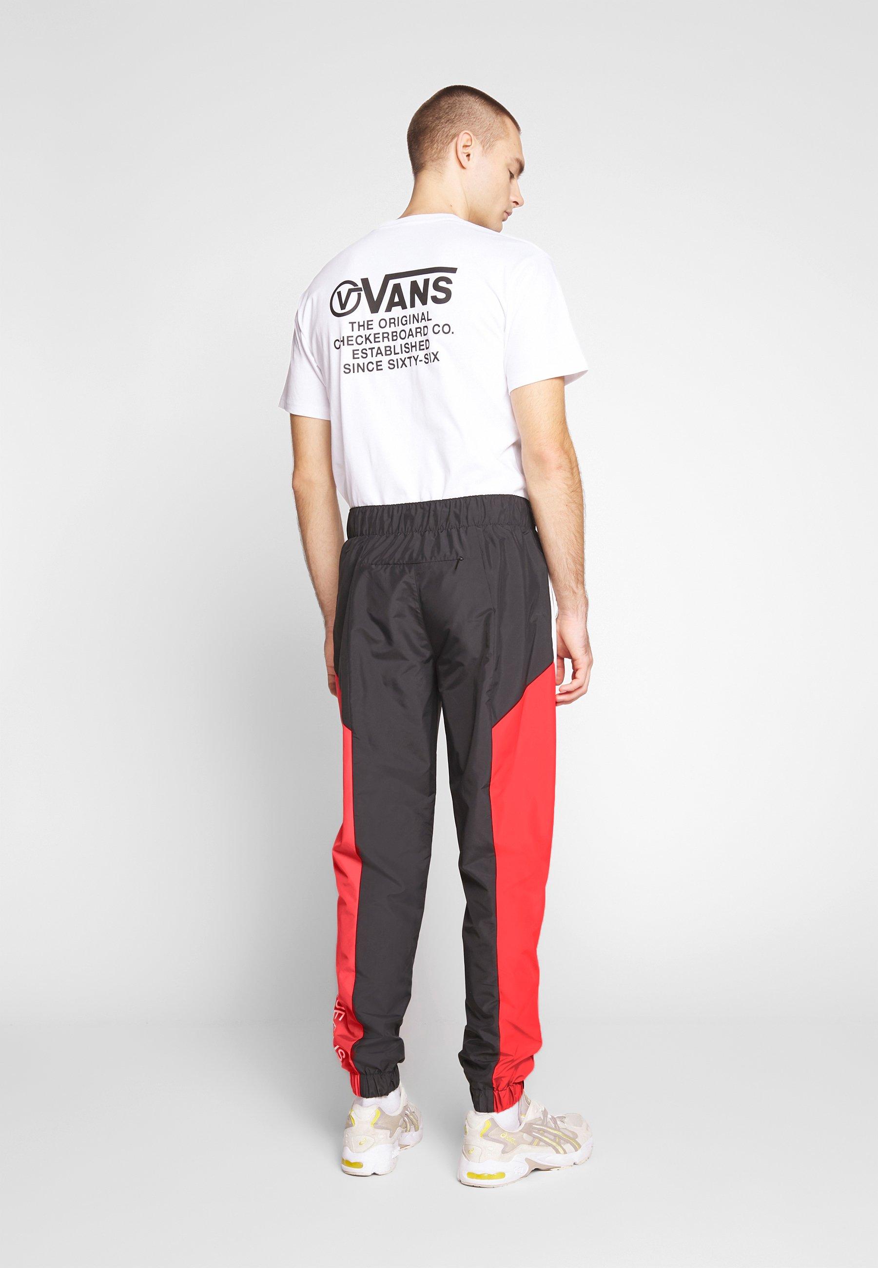 Calvin Klein Jeans COLOR BLOCK TRACK PANT - Spodnie treningowe - black/white/red