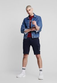 Calvin Klein Jeans - MONOGRAM PATCH SHORT - Shorts - night sky - 1
