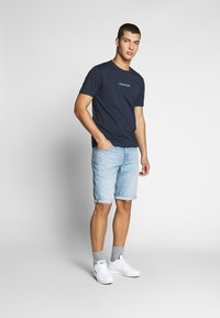 Calvin Klein Jeans - REGULAR SHORT - Denim shorts -  light blue - 1