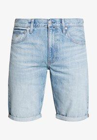 Calvin Klein Jeans - REGULAR SHORT - Denim shorts -  light blue - 4