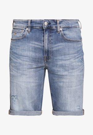 REGULAR - Short en jean - bright blue destroyed