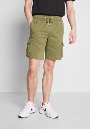 SIMPLE WASHED CARGO - Shorts - new basil