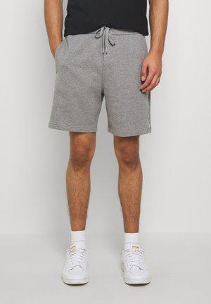 SIDE LOGO - Pantalones deportivos - mid grey heather